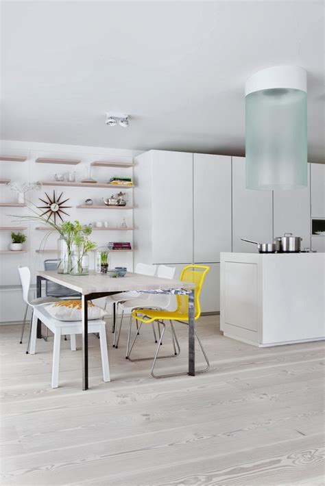 yellow kitchen accents stylish minimalist kitchen with bright yellow accents