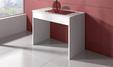 offerte console table console extensible groupon