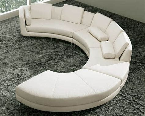 White Leather Circular Sectional by Circular Shape Leather Modern Sectional Sofa Set 44la94