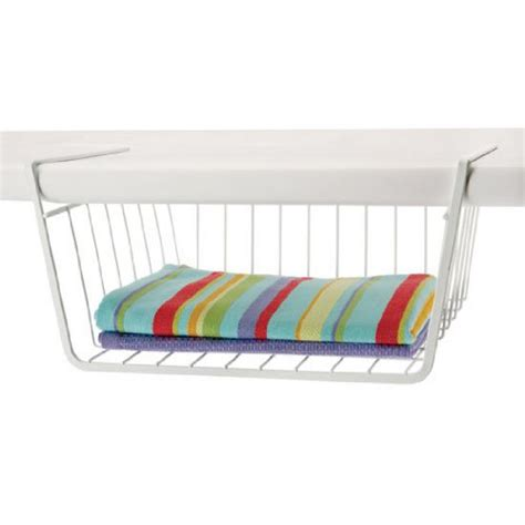 organized living shelf basket white new