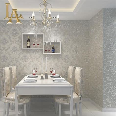 european home design simple home decoration european simple luxury beige grey 3d damask wallpaper