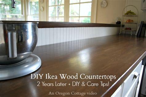 diy wood countertops ikea diy ikea wood butcher block countertops 2 years later an oregon cottage