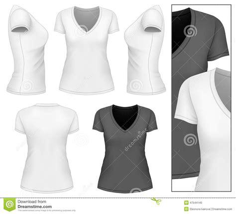 Women S V Neck T Shirt Stock Vector Image Of Vector 47544140 V Neck T Shirt Design Template