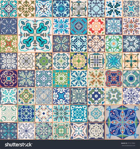 Moroccan Patchwork Tiles - floral patchwork tile design colorful moroccan