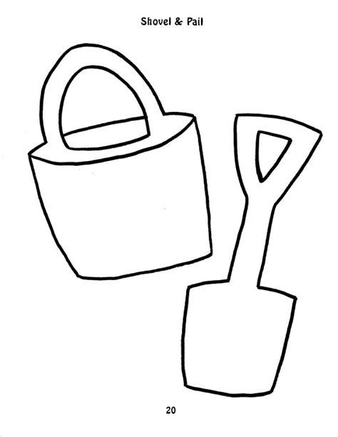 sand shovel template clipart best
