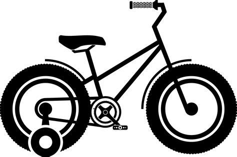 Clip Sepeda Bmx Black clipart kid bike