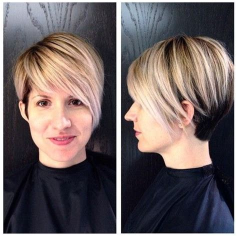 womens haircuts based on face short hairstyles for women layered straight cut with long