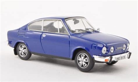 skoda 110 r blue abrex diecast model car 1 43 buy sell