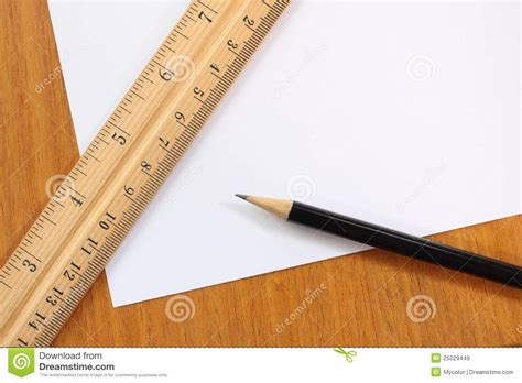 How To Make A Paper Ruler - blank paper pencil and ruler royalty free stock images