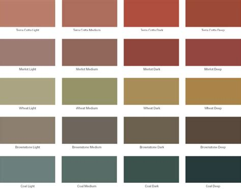 color charts plano concrete flooring