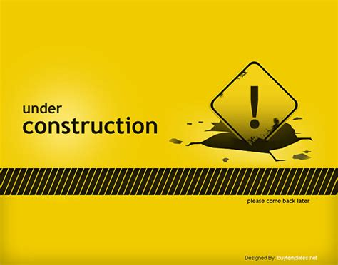 Underconstruction Template construction web page template free