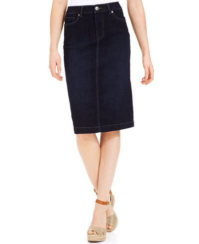 Style Co Denim T3010 1 style co denim skirt rinse wash only at macy s skirts macy s