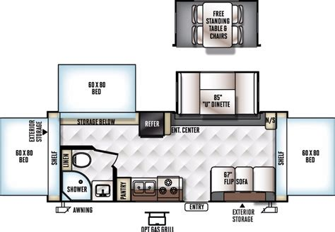 rockwood roo floor plans 2017 forest river rockwood roo 233s cing world of