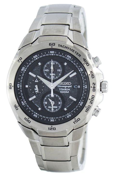 Seiko Chronograph Titanium seiko titanium chronograph quartz alarm tachymeter snab91