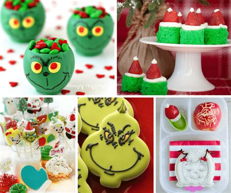 grinch themed a roundup of 25 grinch themed treats for you