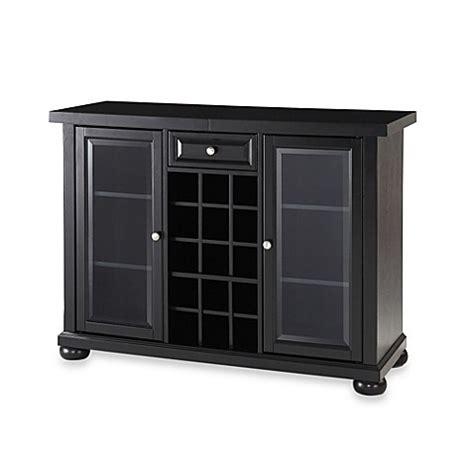 sliding top bar cabinet buy crosley alexandria sliding top bar cabinet in black