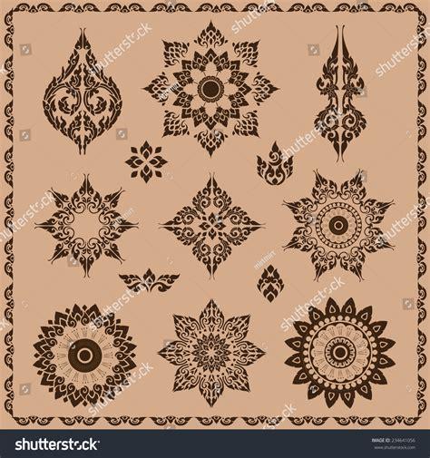set of oriental design elements stock vector image 22896967 set thai ornament thai vintage elements stock vector