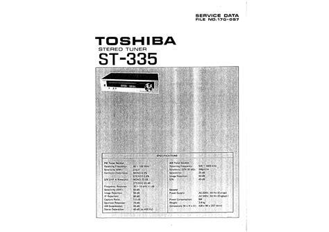 Toshiba St335 Service Manual Immediate Download