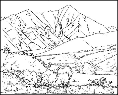 coloring book views coloring pages of mountains coloring home