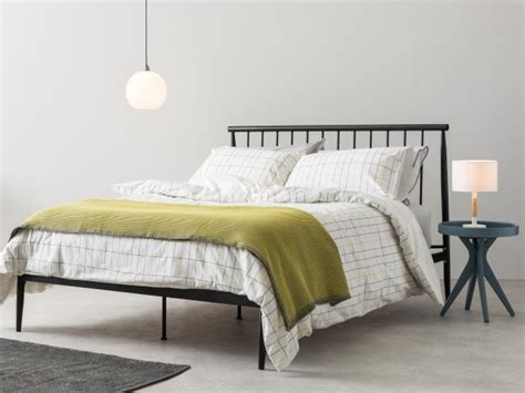 industrial style king size black metal bed frames
