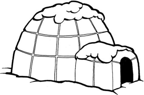 coloring page igloo eskimo igloo clipart clipart suggest