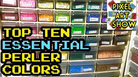 perler bead colors top ten essential perler bead colors pixel show