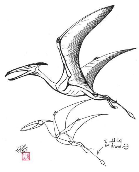pterodactyl tattoo dinosaur pterodactyl drawing draw a pterosaur by diana