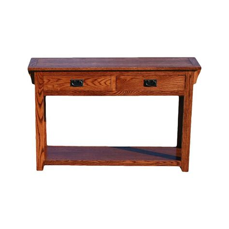 oak mission sofa table od o m257 mission oak sofa console table