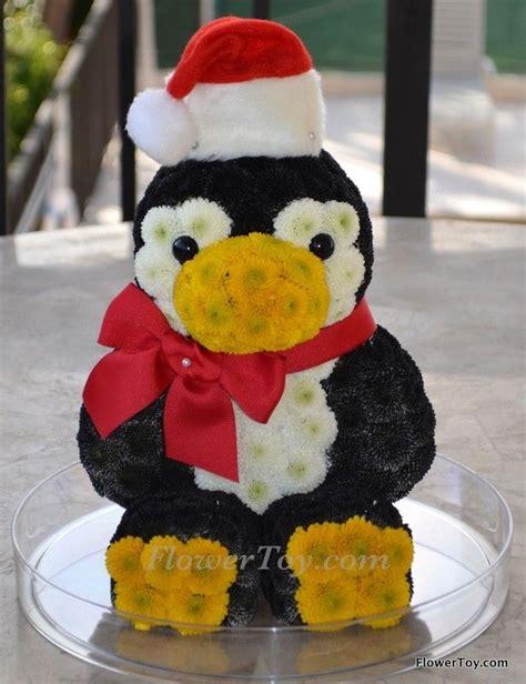 Animal Flower Pot Penguin flowertoy penguin santa flower animals toys flower and