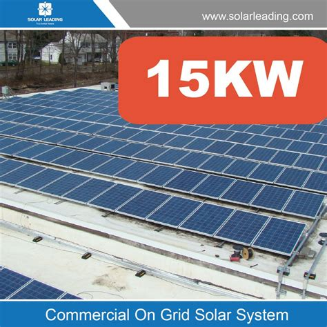 solar panel grid 15kw grid solar panel pv system to generate solar power for domestic consumptionv for