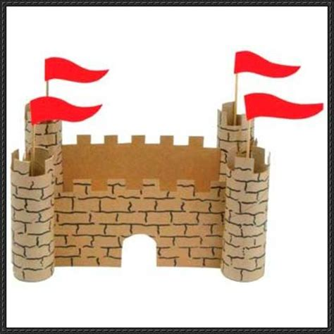 Paper Craft Square - paper crafts for cardboard castle tutorial