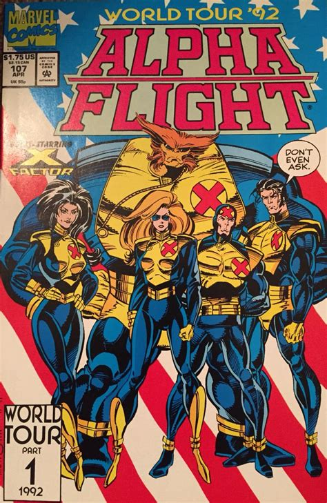 Sasquatch Vindicator Alpha Flight alpha flight vol1 107 world tour 92 guardian vindicator hudson puck eugene judd