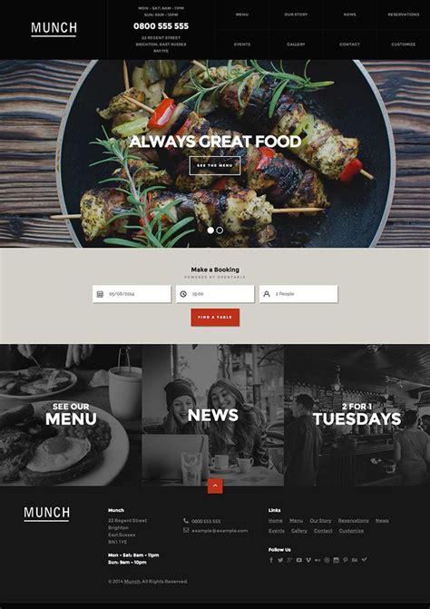 designrazzi themes 17 best images about restaurant website on pinterest