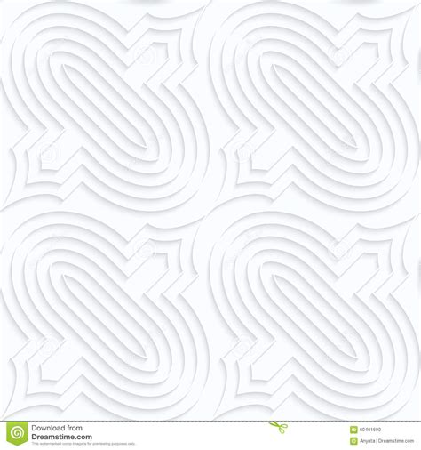 pattern svg offset quilling white paper bulbs with offset stock vector
