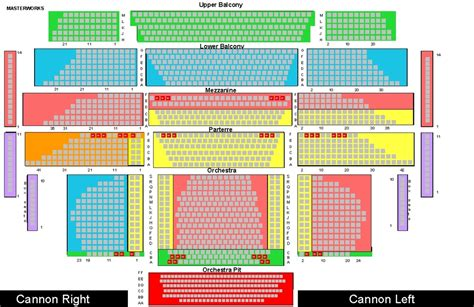 cannon center seating chart seating charts prices