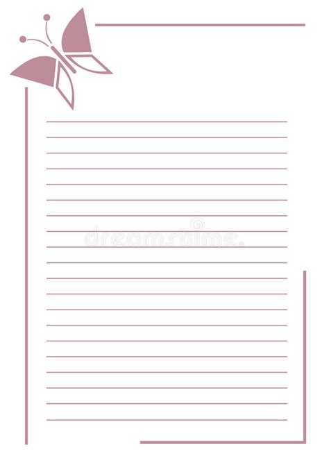 vector blank letter greeting card pink simple form
