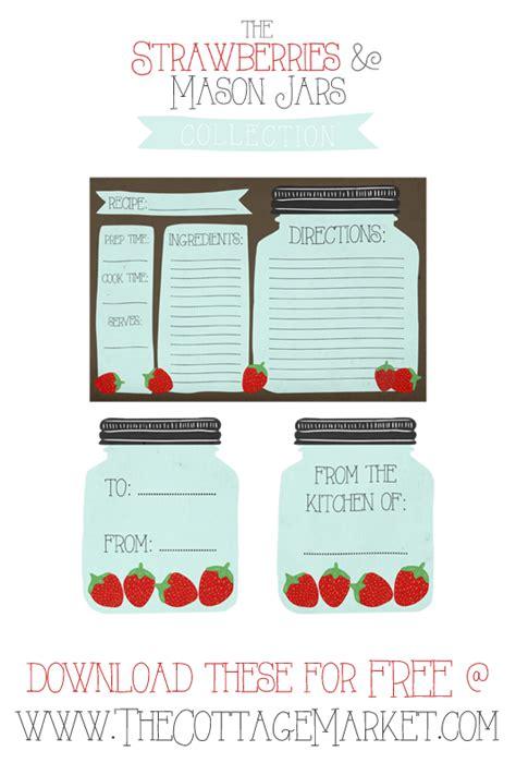 jar recipe card template free printable jar recipe cards and matching gift