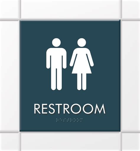 Unisex Bathroom Sign by Nexus Office Signs Modern Office Door Signs