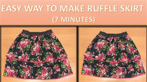 ruffle katun how to make pattern and to sew a layered ruffle skirt with