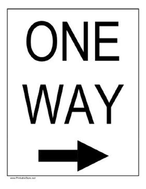 printable one way road sign 22 best images about road sign on pinterest flashcard