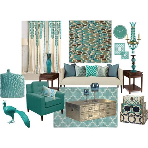 decorating with aqua quot aqua blue living room quot by truthjc on polyvore aqua