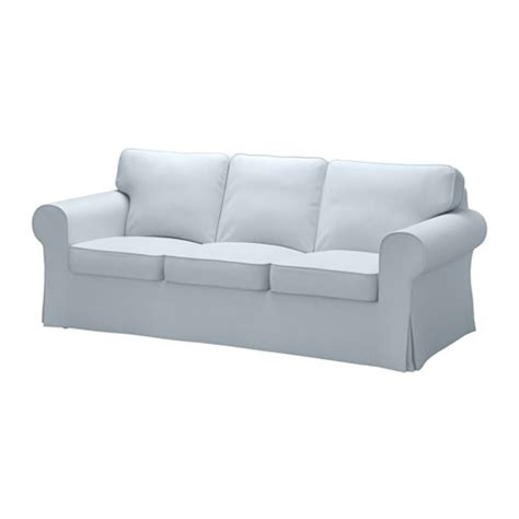 ektorp cover three seat sofa nordvalla light blue ikea