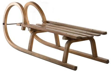 19th century grindelwald ram s horn wooden sled for sale
