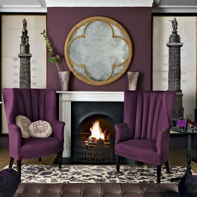 purple chairs for living room arrange small seating area around fireplace not feeling the purple fireplace seating
