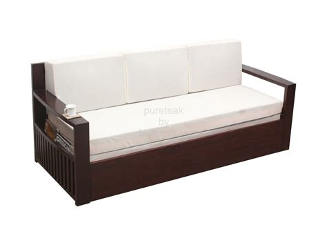 Wooden Sofa Bed With Storage Wood Sofa Bed Storage And Wooden Sofa Bed