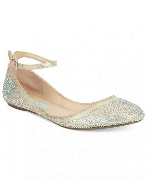 beautiful flat wedding shoes blue by betsey johnson evening flats evening