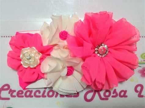 imagenes flores de tela flores de tela en tiara creaciones rosa isela video no