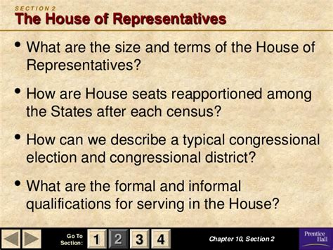 chapter 10 section 4 the members of congress chapter 10 section 2 the house of representatives 28