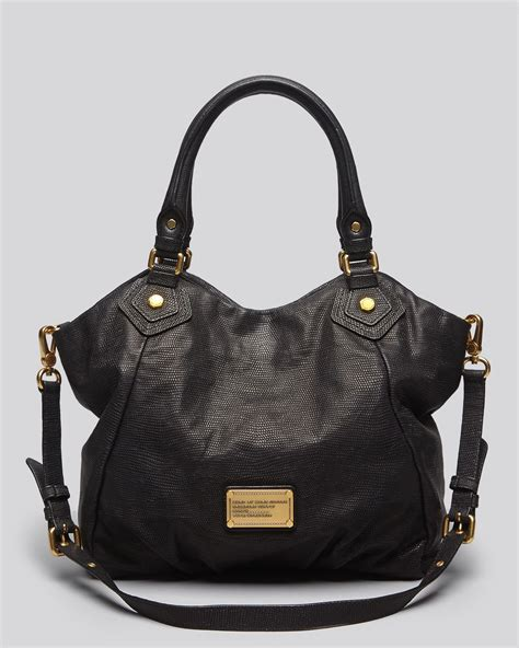 Marc Black marc by marc tote classic q lizardembossed fran in black lyst