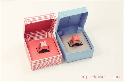 How To Make Origami Ring Box - origami ring box for s day paper kawaii